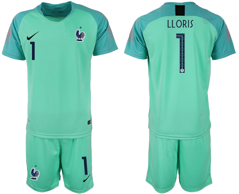 Men 2018 World Cup France green goalkeeper 1 soccer jerseys
