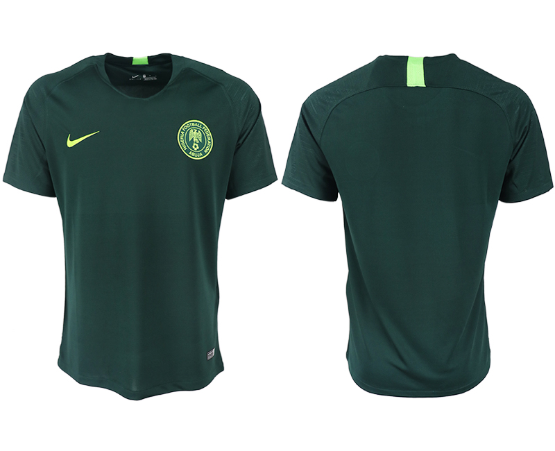 Men 2018 World Cup Nigeria away blank green soccer jersey