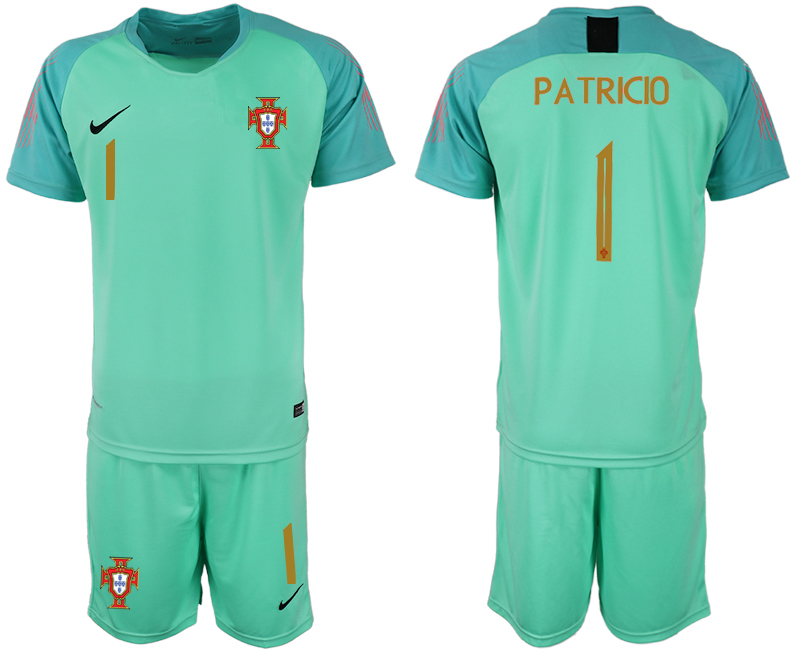 Men 2018 World Cup Portugal green goalkeeper 1 soccer jerseys