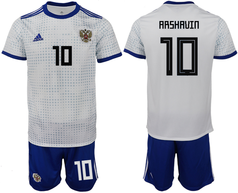 Men 2018 World Cup Russia away 10 white soccer jerseys