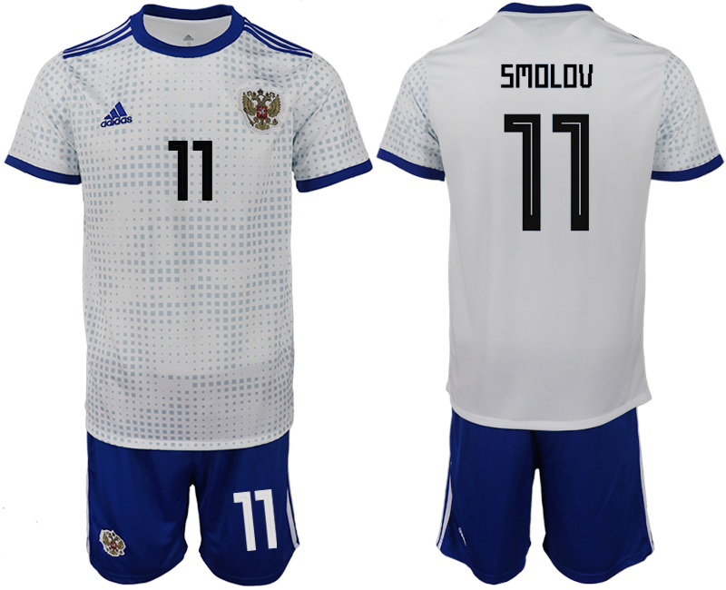 Men 2018 World Cup Russia away 11 white soccer jerseys