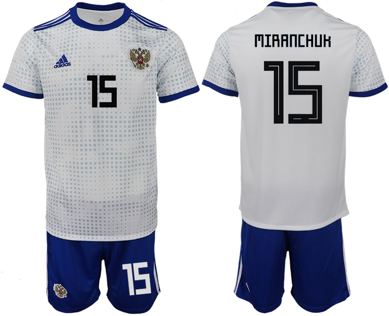 Men 2018 World Cup Russia away 15 white soccer jerseys