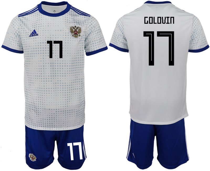 Men 2018 World Cup Russia away 17 white soccer jerseys
