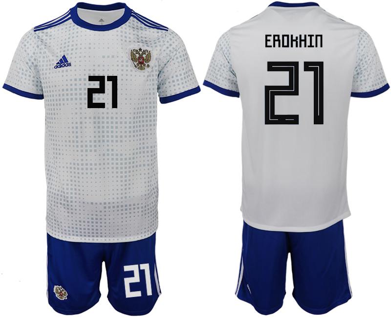 Men 2018 World Cup Russia away 21 white soccer jerseys