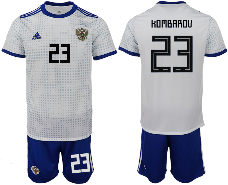 Men 2018 World Cup Russia away 23 white soccer jerseys