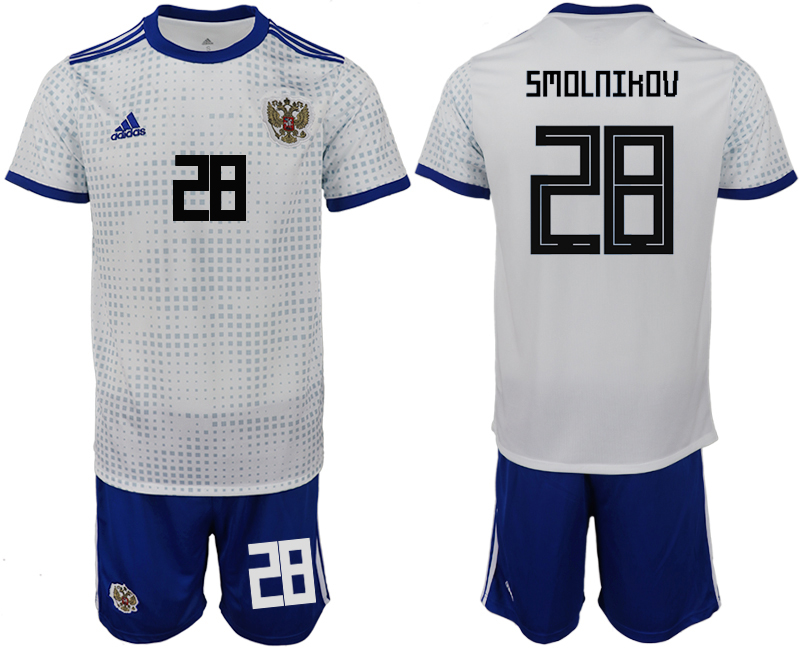 Men 2018 World Cup Russia away 28 white soccer jerseys