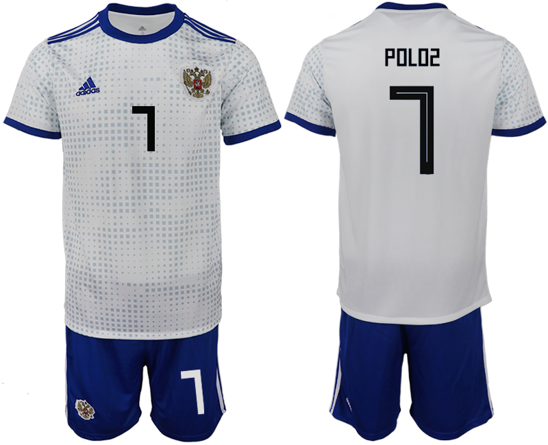 Men 2018 World Cup Russia away 7 white soccer jerseys