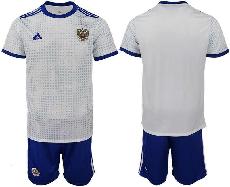 Men 2018 World Cup Russia away blank white soccer jerseys