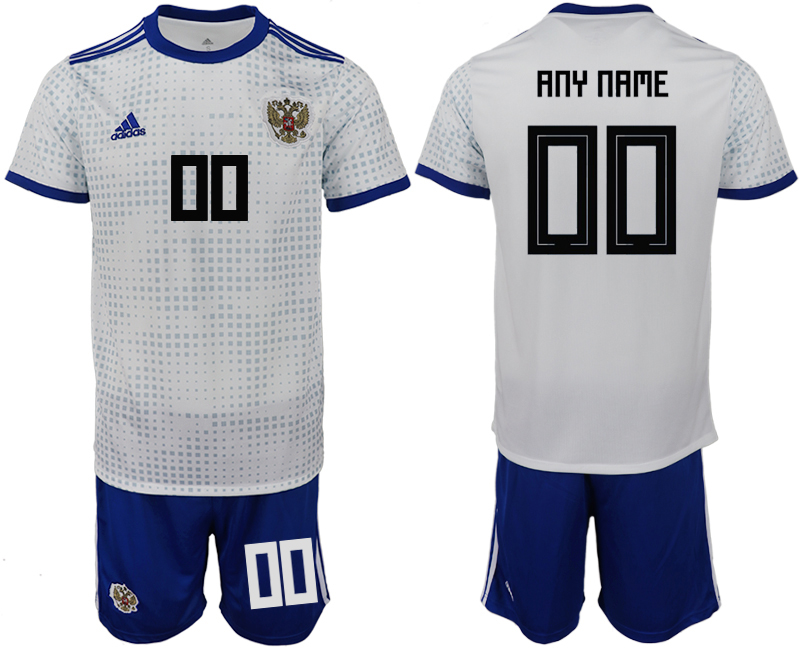 Men 2018 World Cup Russia away customized white soccer jerseys