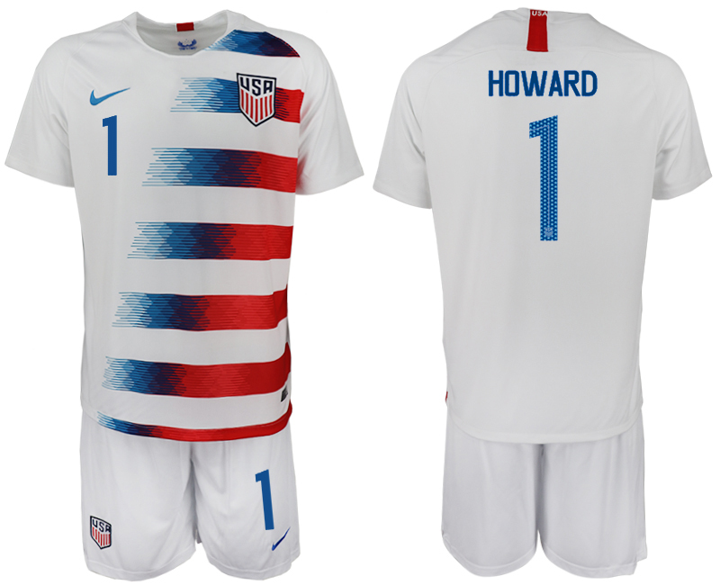 Men 2018-2019 National America home 1 white soccer jersey1