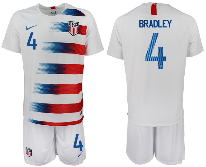 Men 2018-2019 National America home 4 white soccer jersey
