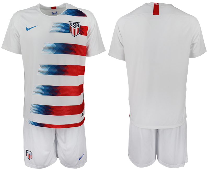 Men 2018-2019 National America home blank white soccer jersey