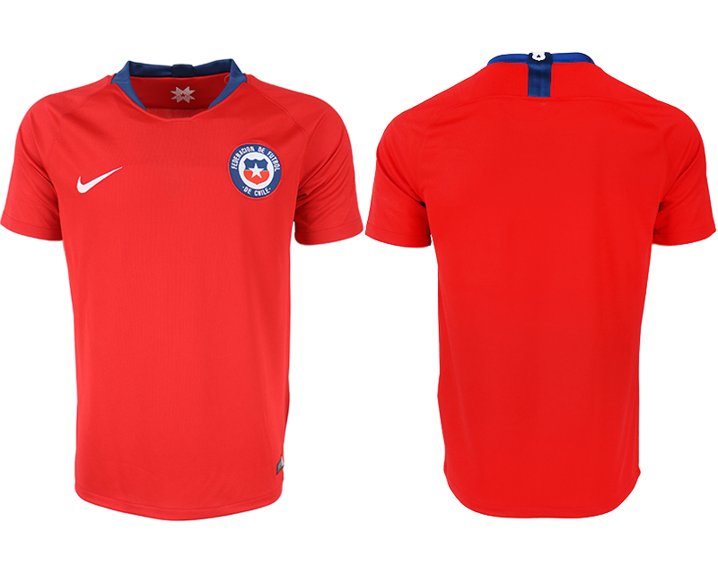 Men 2018-2019 National Chile home aaa version blank red soccer jersey