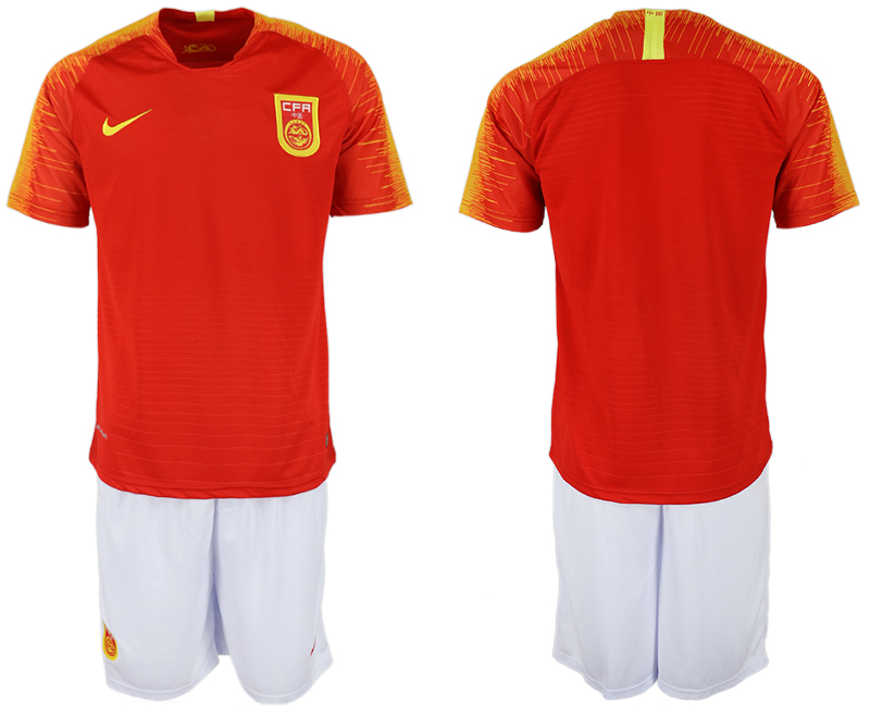 Men 2018-2019 National China home blank red soccer jersey