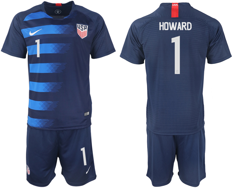 Men 2018-2019 National United States away 1 blue soccer jersey