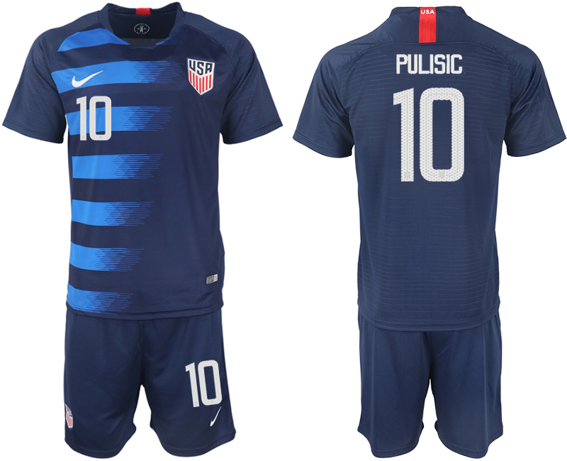 Men 2018-2019 National United States away 10 blue soccer jersey