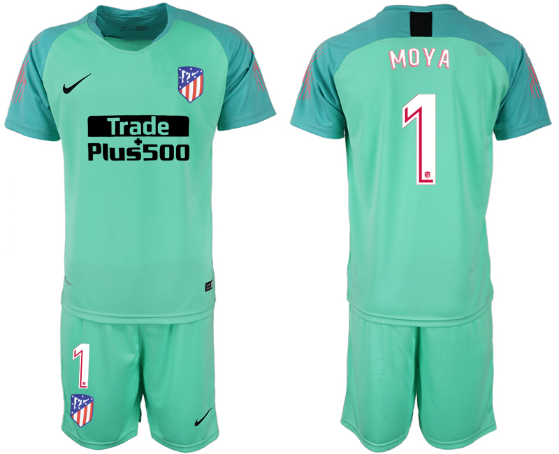 Men 2018-2019 club Atletico Madrid fluorescent green goalkeeper 1 soccer jersey