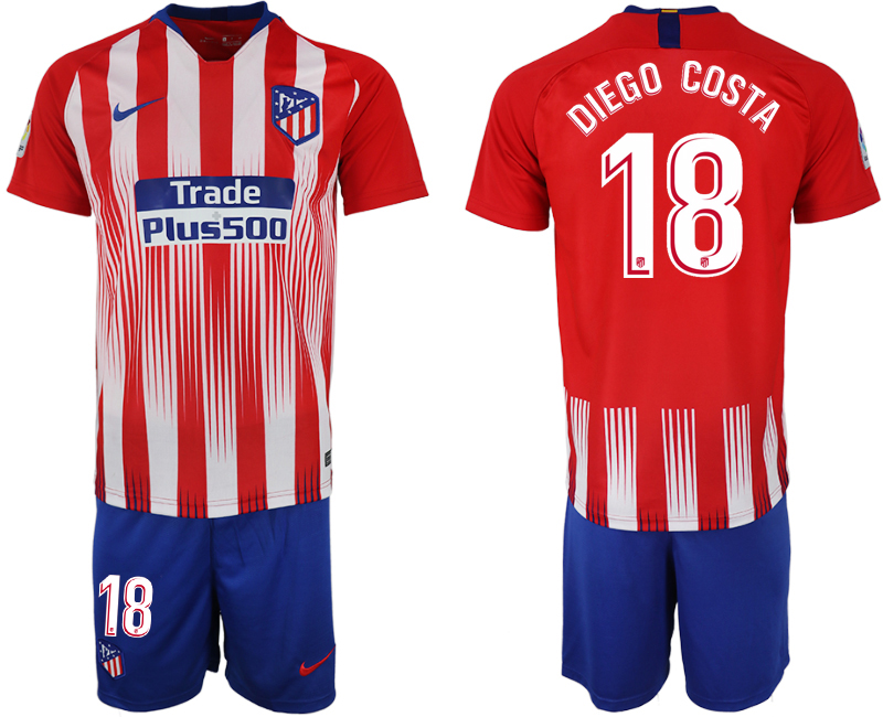 Men 2018-2019 club Atletico Madrid home 18 red soccer jersey