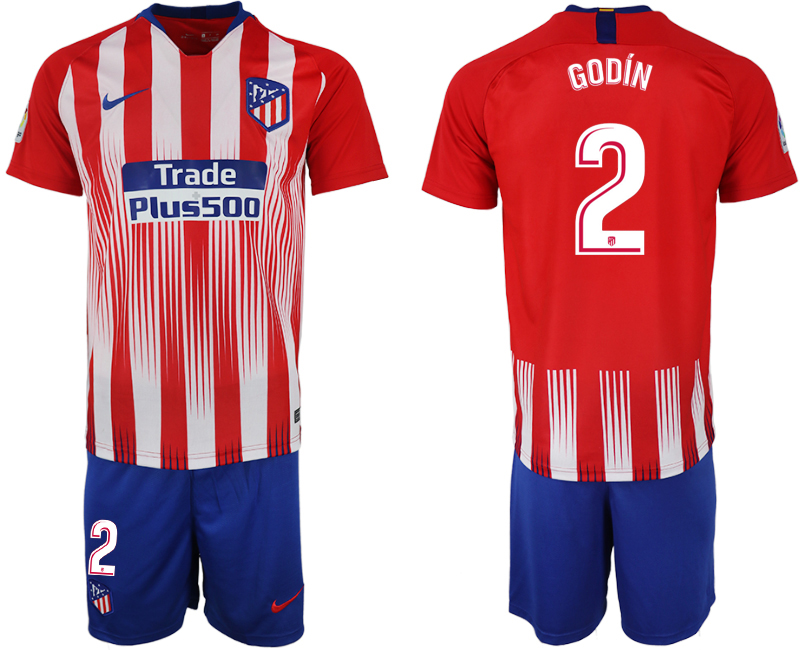 Men 2018-2019 club Atletico Madrid home 2 red soccer jersey