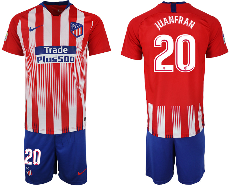 Men 2018-2019 club Atletico Madrid home 20 red soccer jersey