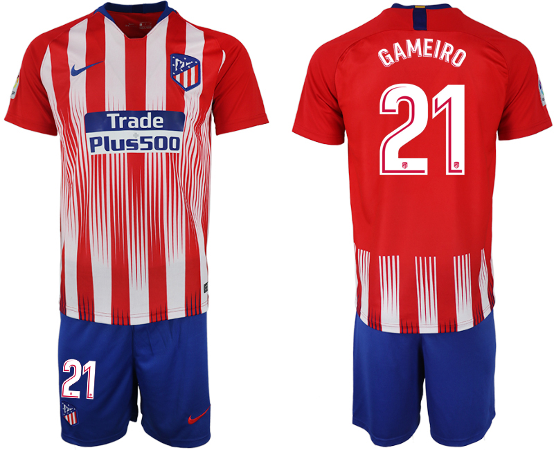 Men 2018-2019 club Atletico Madrid home 21 red soccer jersey