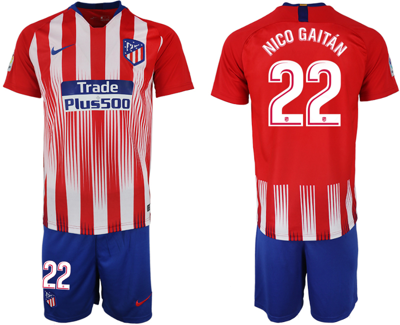 Men 2018-2019 club Atletico Madrid home 22 red soccer jersey