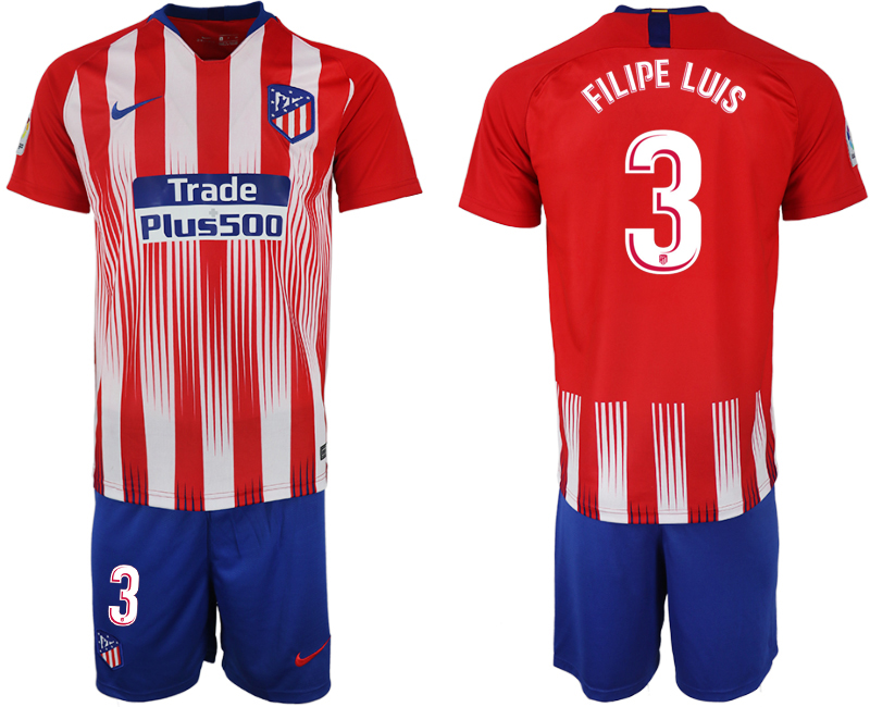 Men 2018-2019 club Atletico Madrid home 3 red soccer jersey