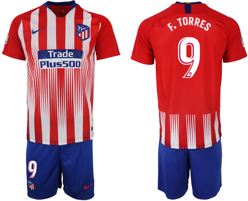 Men 2018-2019 club Atletico Madrid home 9 red soccer jersey