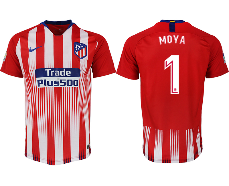 Men 2018-2019 club Atletico Madrid home aaa version 1 red soccer jersey