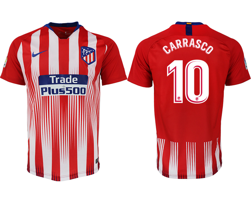 Men 2018-2019 club Atletico Madrid home aaa version 10 red soccer jersey