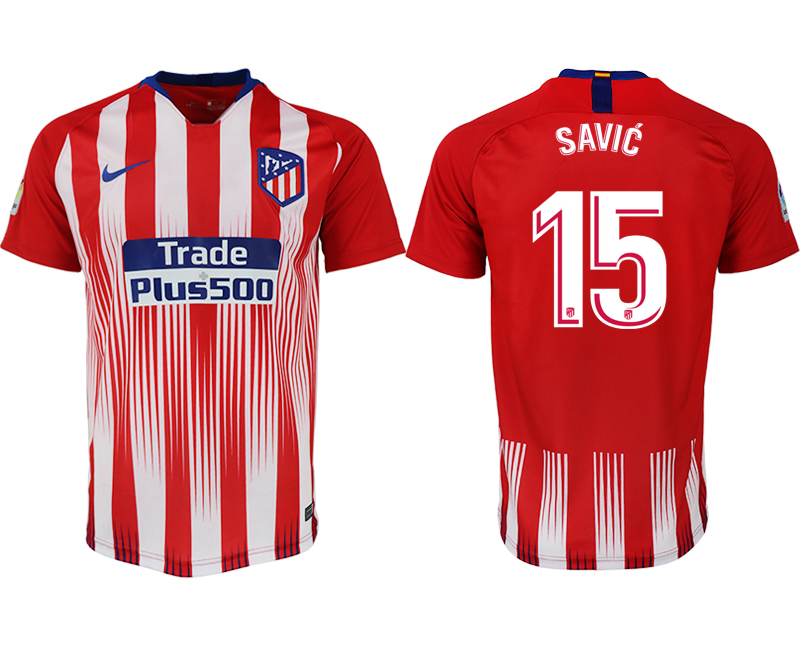 Men 2018-2019 club Atletico Madrid home aaa version 15 red soccer jersey