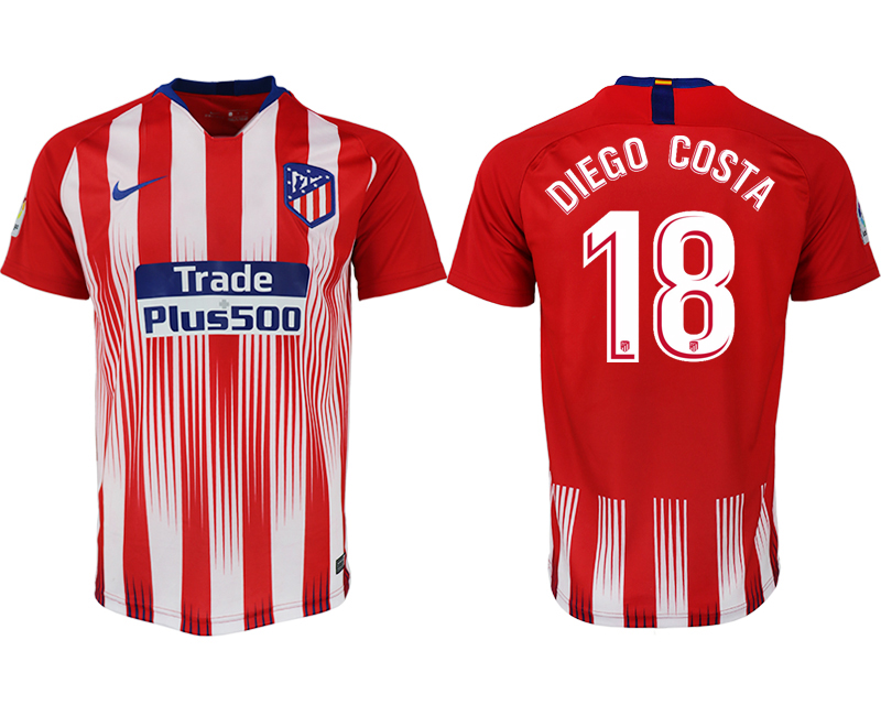 Men 2018-2019 club Atletico Madrid home aaa version 18 red soccer jersey