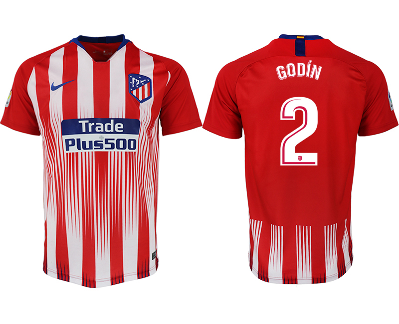Men 2018-2019 club Atletico Madrid home aaa version 2 red soccer jersey