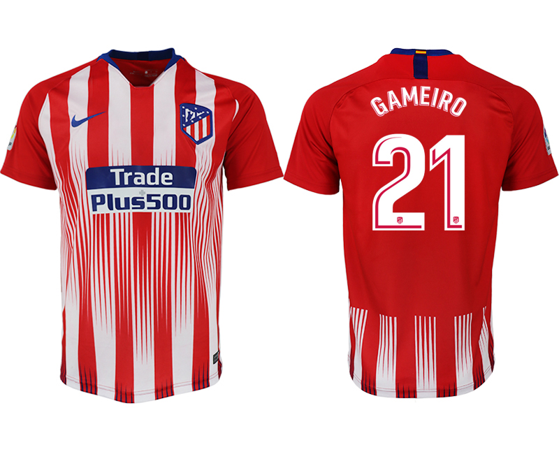Men 2018-2019 club Atletico Madrid home aaa version 21 red soccer jersey