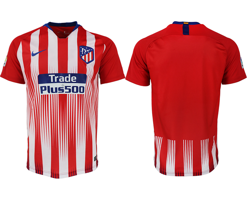 Men 2018-2019 club Atletico Madrid home aaa version blank red soccer jersey