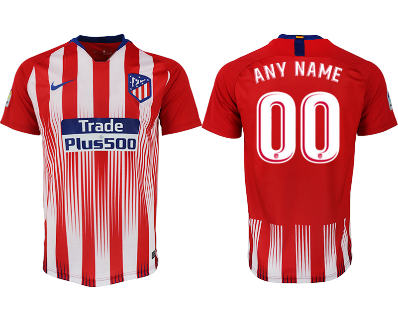 Men 2018-2019 club Atletico Madrid home aaa version customized red soccer jersey