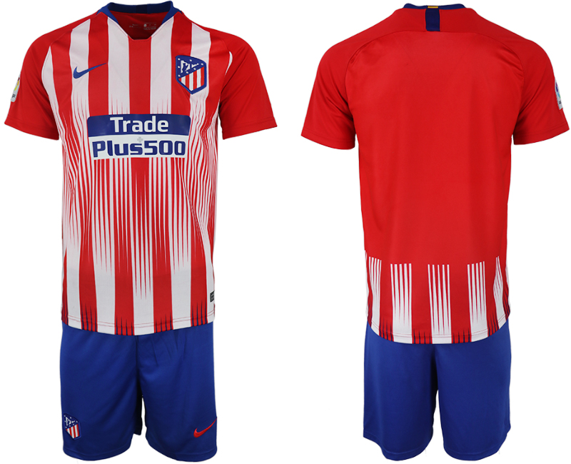 Men 2018-2019 club Atletico Madrid home blank red soccer jersey
