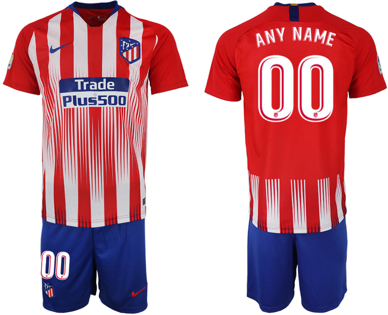 Men 2018-2019 club Atletico Madrid home customized red soccer jersey
