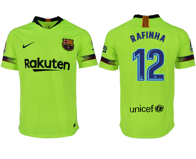 Men 2018-2019 club Barcelona away aaa version 12 green soccer jersey