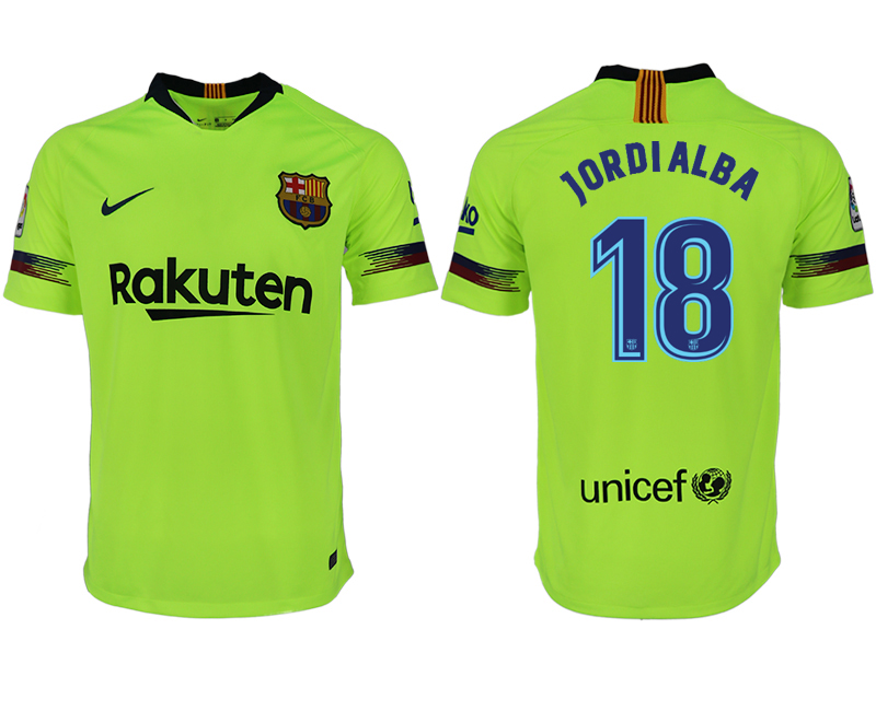 Men 2018-2019 club Barcelona away aaa version 18 green soccer jersey
