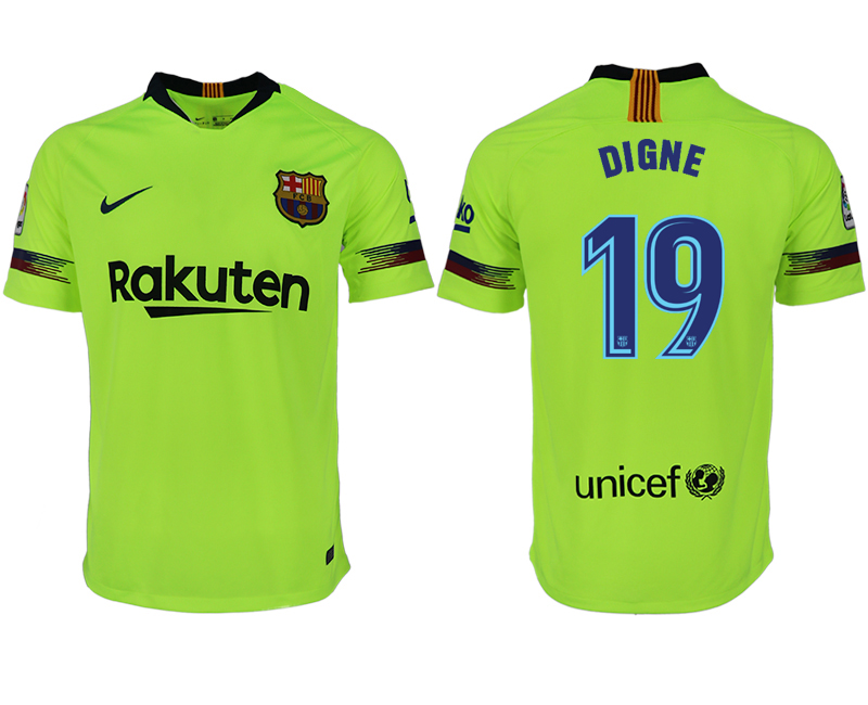 Men 2018-2019 club Barcelona away aaa version 19 green soccer jersey