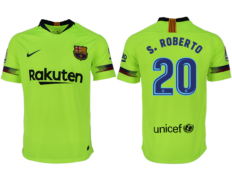 Men 2018-2019 club Barcelona away aaa version 20 green soccer jersey