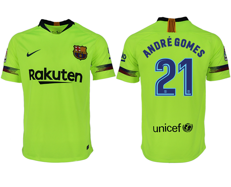 Men 2018-2019 club Barcelona away aaa version 21 green soccer jersey