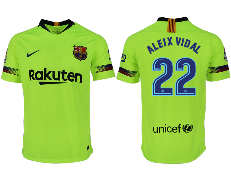 Men 2018-2019 club Barcelona away aaa version 22 green soccer jersey