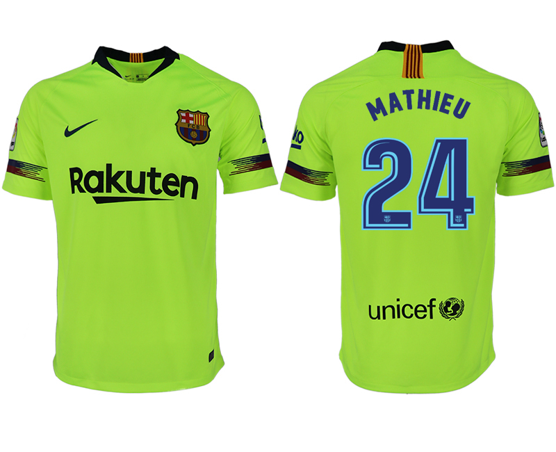 Men 2018-2019 club Barcelona away aaa version 24 green soccer jersey
