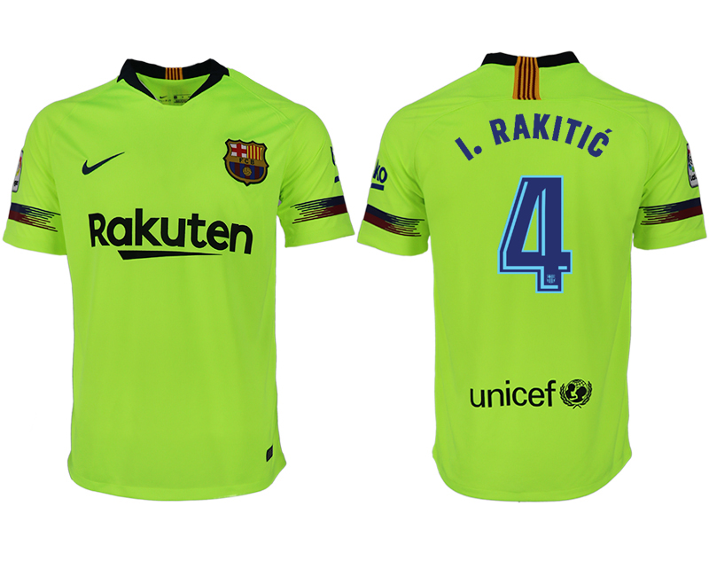 Men 2018-2019 club Barcelona away aaa version 4 green soccer jersey