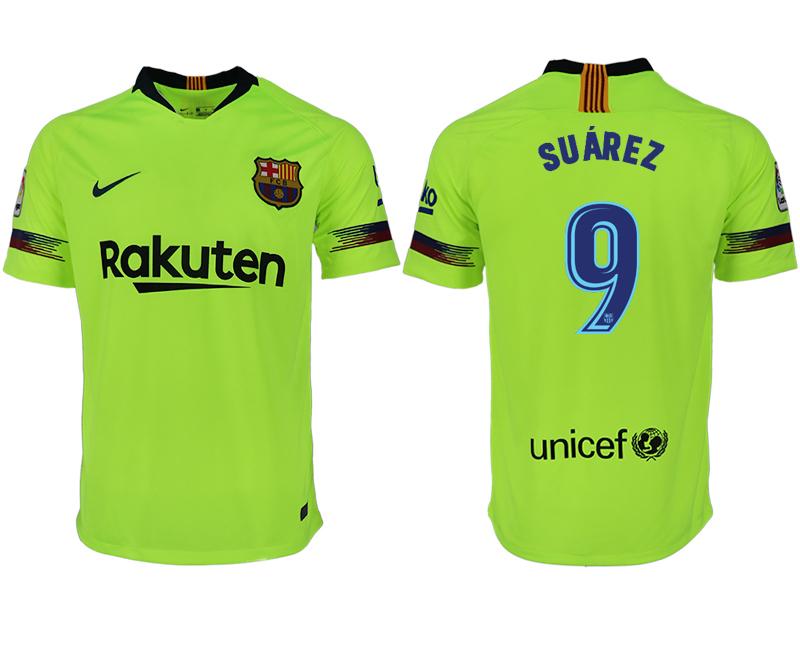 8a66a3880 Men 2018-2019 club Barcelona away aaa version 9 green soccer jersey ...