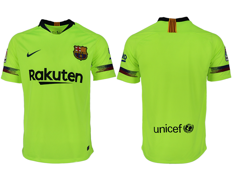 Men 2018-2019 club Barcelona away aaa version blank green soccer jersey