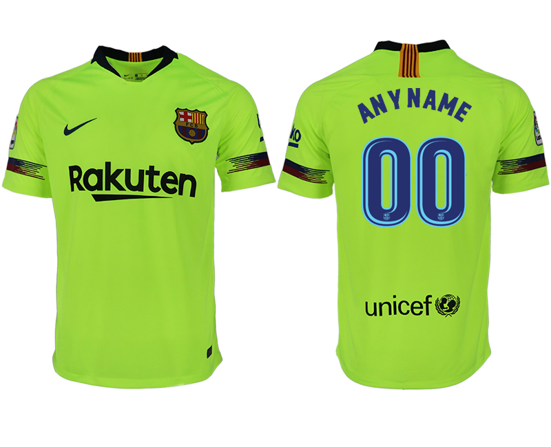 Men 2018-2019 club Barcelona away aaa version customized green soccer jersey