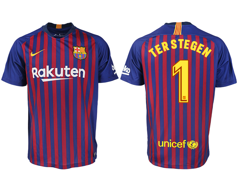 Men 2018-2019 club Barcelona home aaa version 1 blue soccer jersey